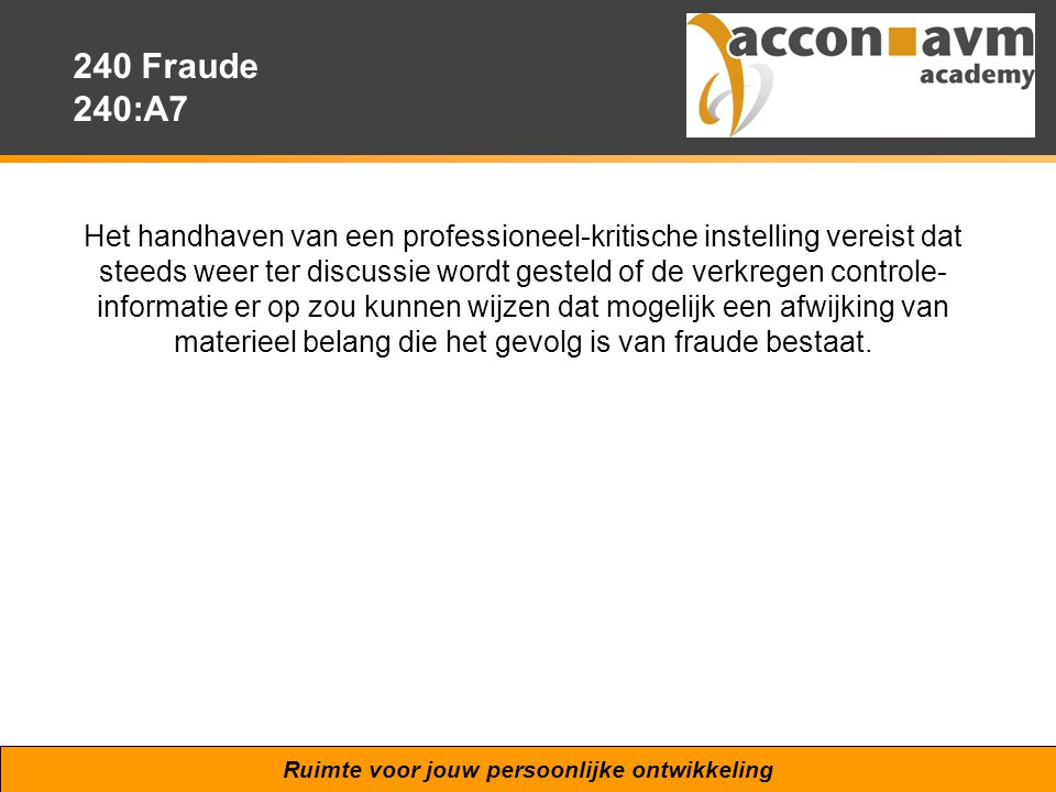 240 Fraude 240:A7