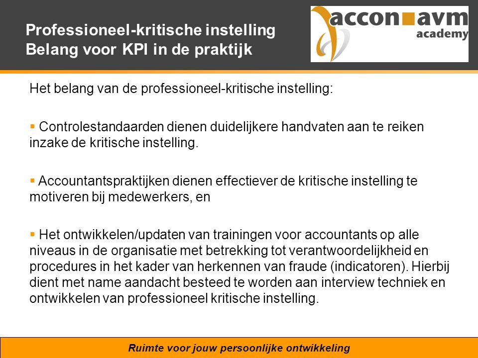 Professioneel-kritische instelling Belang voor KPI in de praktijk