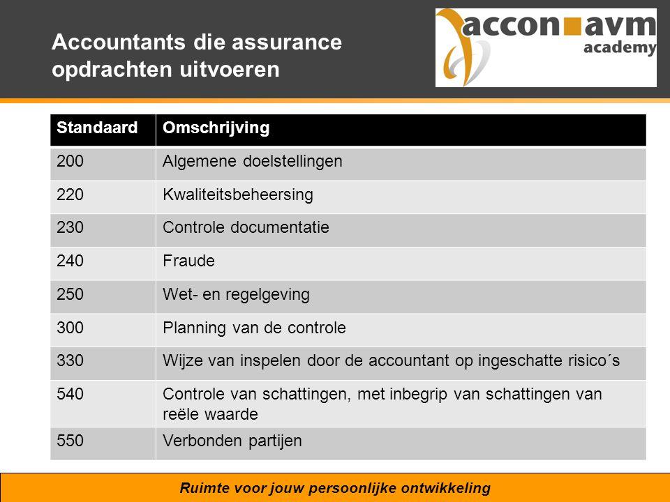 Accountants die assurance opdrachten uitvoeren