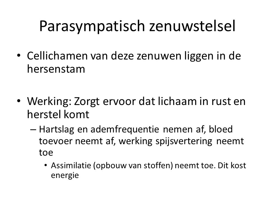 Parasympatisch zenuwstelsel
