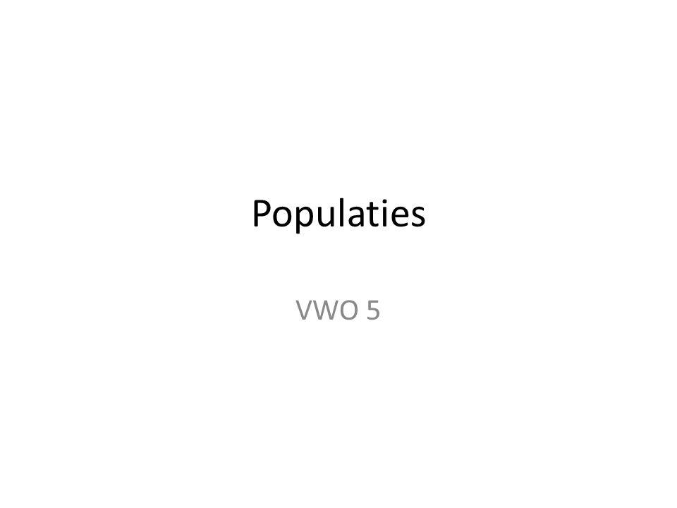 Populaties VWO 5