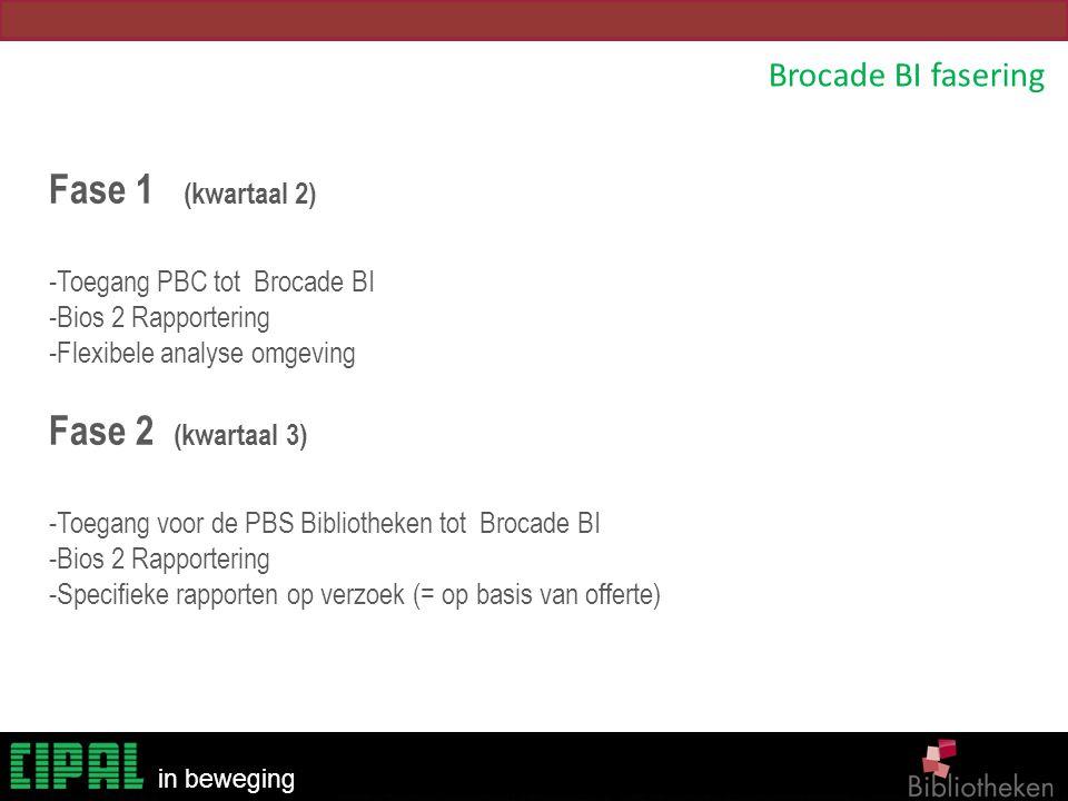 Fase 1 (kwartaal 2) Fase 2 (kwartaal 3) Brocade BI fasering