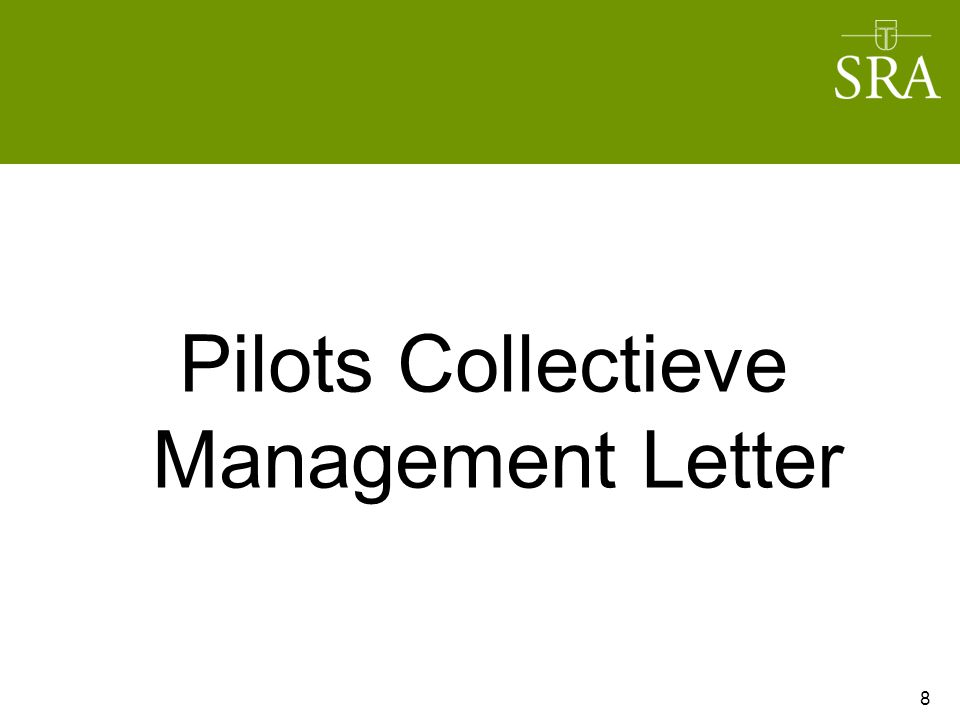 Pilots Collectieve Management Letter