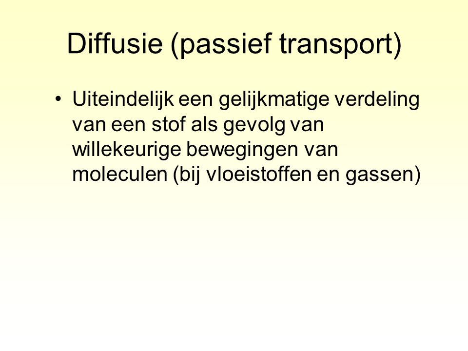 Diffusie (passief transport)