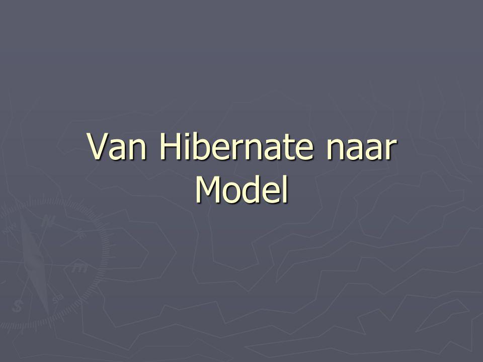 Van Hibernate naar Model