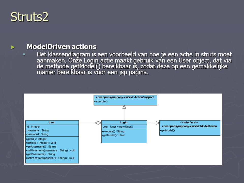 Struts2 ModelDriven actions