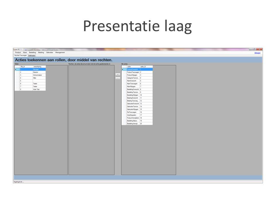 Presentatie laag