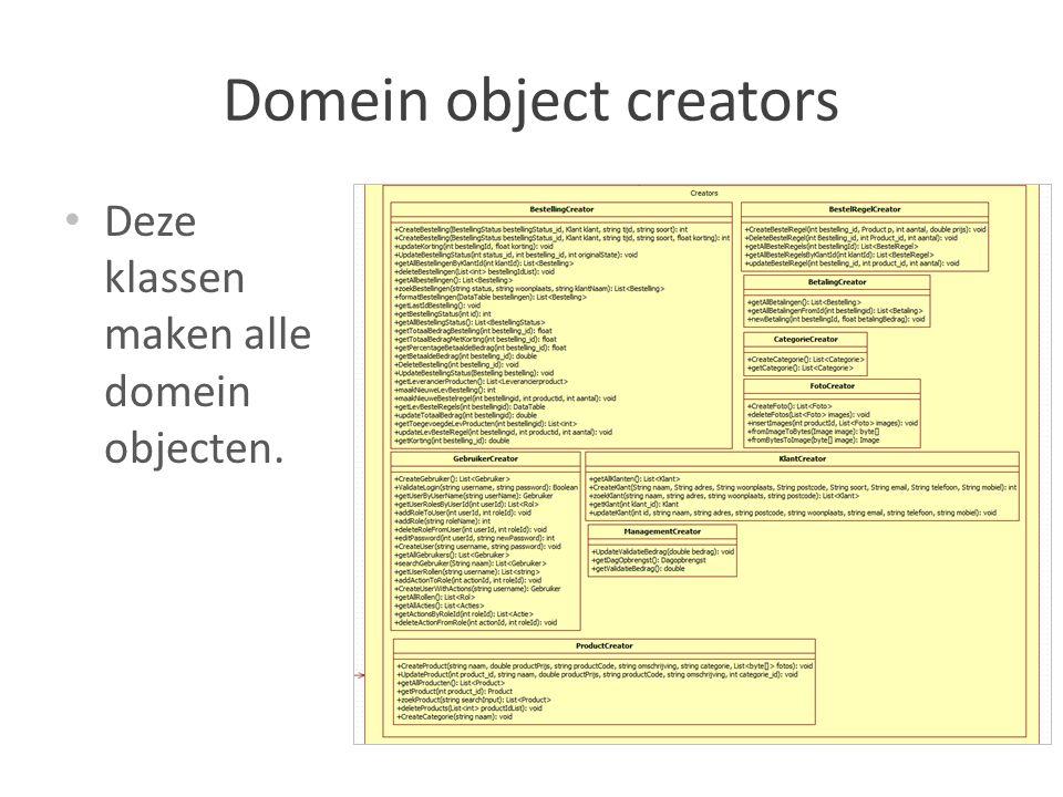 Domein object creators
