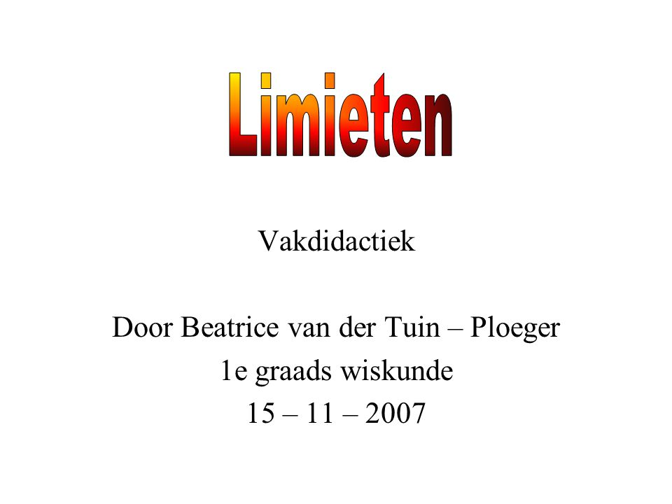 Door Beatrice van der Tuin – Ploeger