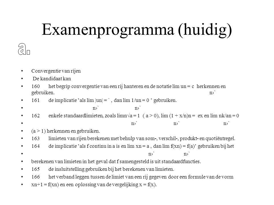 Examenprogramma (huidig)