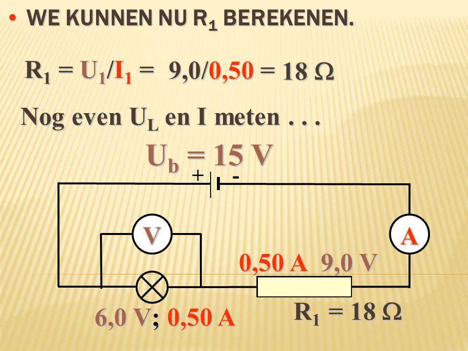 We kunnen nu R1 berekenen.