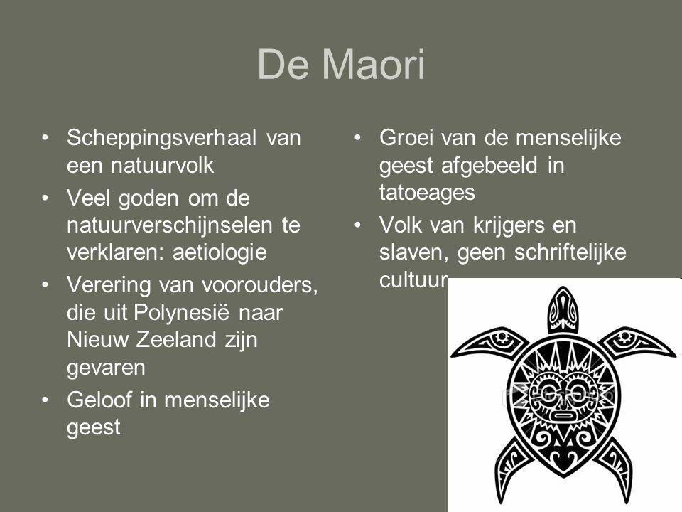 De Maori Scheppingsverhaal van een natuurvolk