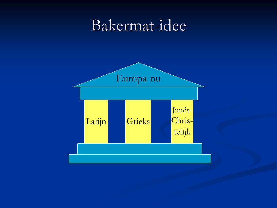 Bakermat-idee Europa nu Latijn Grieks Joods- Chris- telijk