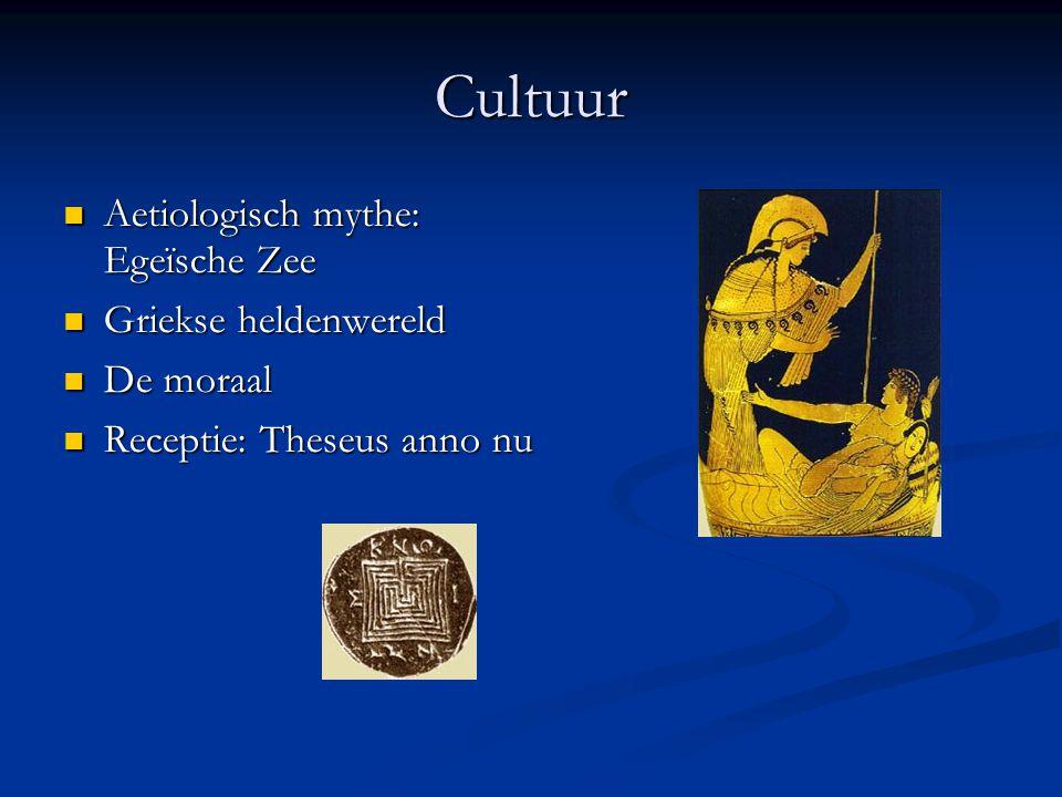 Cultuur Aetiologisch mythe: Egeïsche Zee Griekse heldenwereld