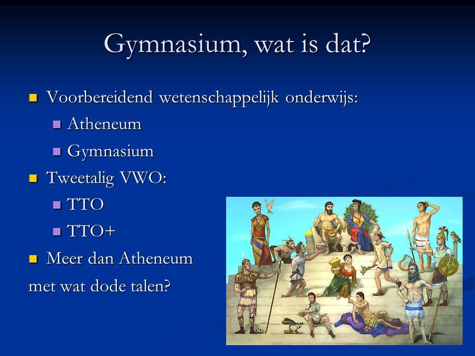 Gymnasium, wat is dat Voorbereidend wetenschappelijk onderwijs: