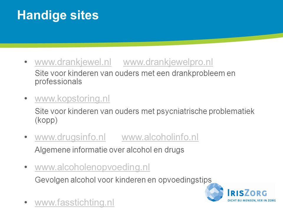 Handige sites www.drankjewel.nl www.drankjewelpro.nl www.kopstoring.nl
