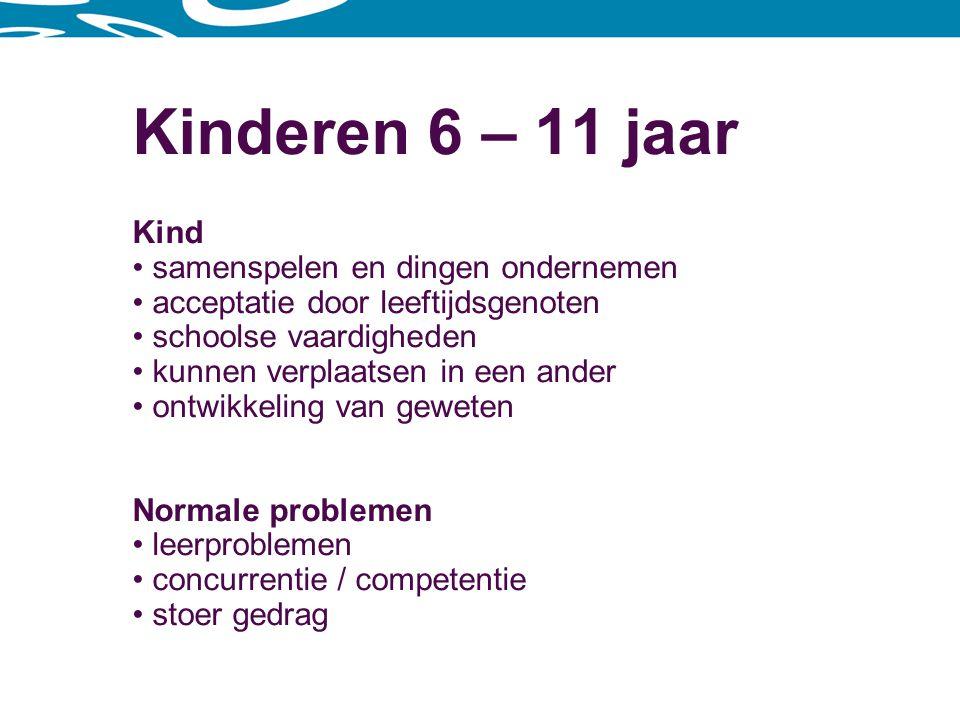 Kinderen 6 – 11 jaar Kind samenspelen en dingen ondernemen