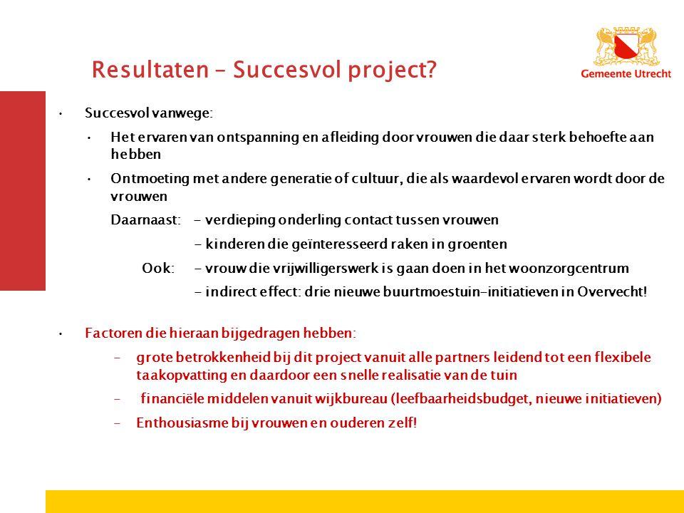 Resultaten – Succesvol project