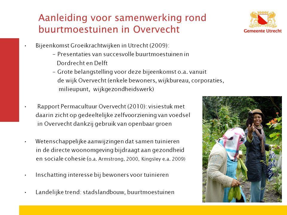 Aanleiding voor samenwerking rond buurtmoestuinen in Overvecht