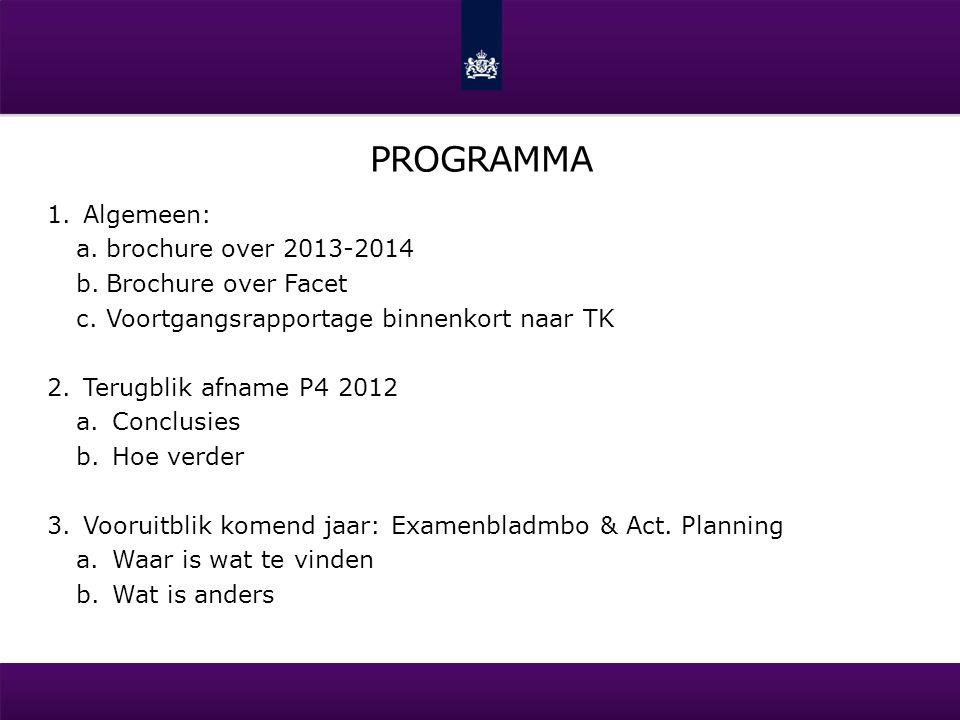 Programma Algemeen: brochure over 2013-2014 Brochure over Facet