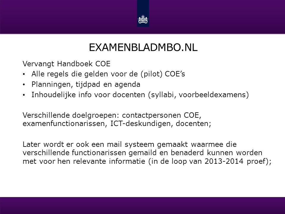 Examenbladmbo.nl Vervangt Handboek COE