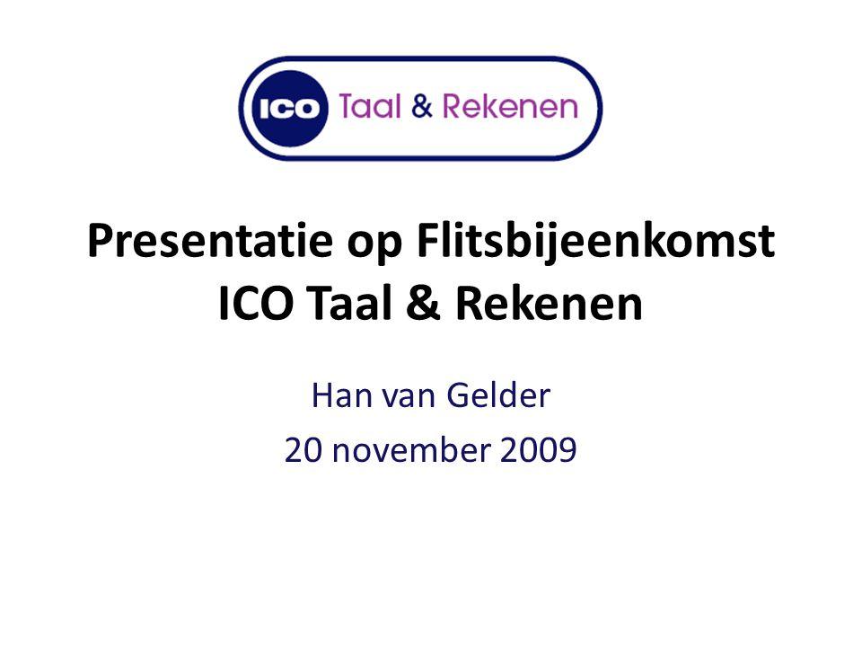 Presentatie op Flitsbijeenkomst ICO Taal & Rekenen