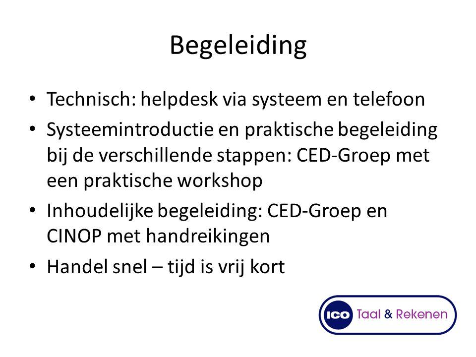 Begeleiding Technisch: helpdesk via systeem en telefoon