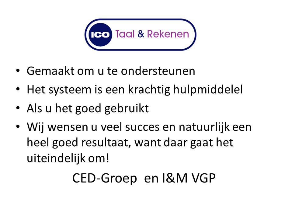 CED-Groep en I&M VGP Gemaakt om u te ondersteunen