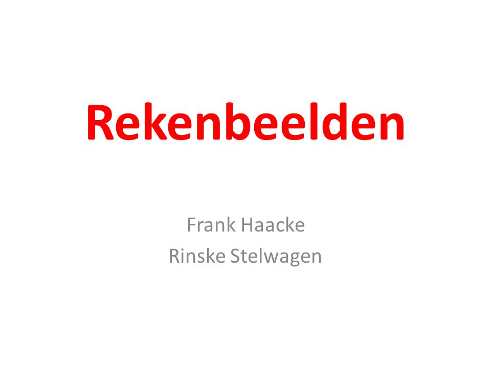 Frank Haacke Rinske Stelwagen