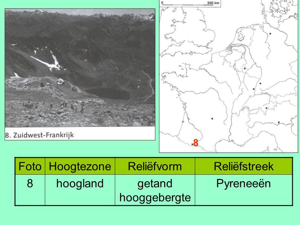 Foto Hoogtezone Reliëfvorm Reliëfstreek 8 hoogland getand hooggebergte