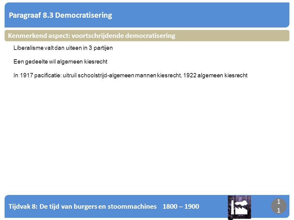 Paragraaf 8.3 Democratisering