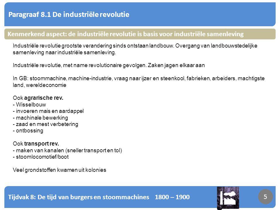 Paragraaf 8.1 De industriële revolutie