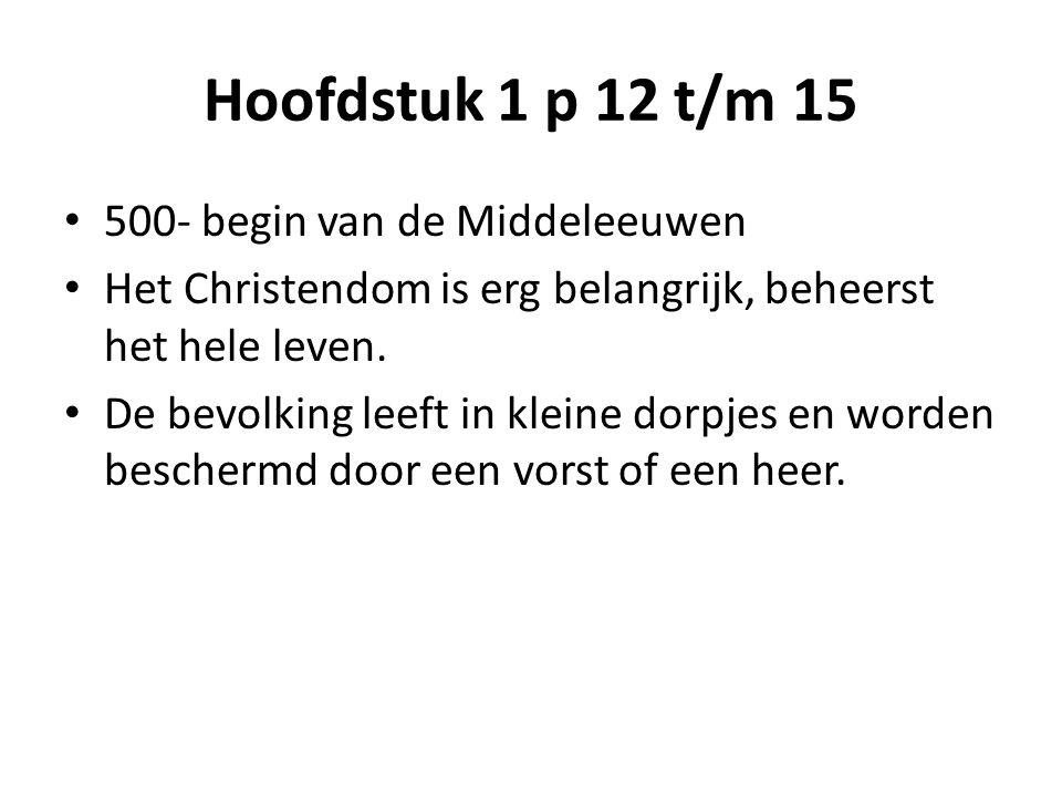 Hoofdstuk 1 p 12 t/m 15 500- begin van de Middeleeuwen