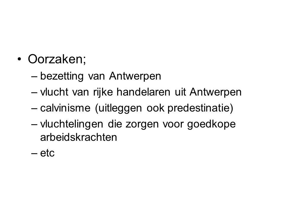 Oorzaken; bezetting van Antwerpen