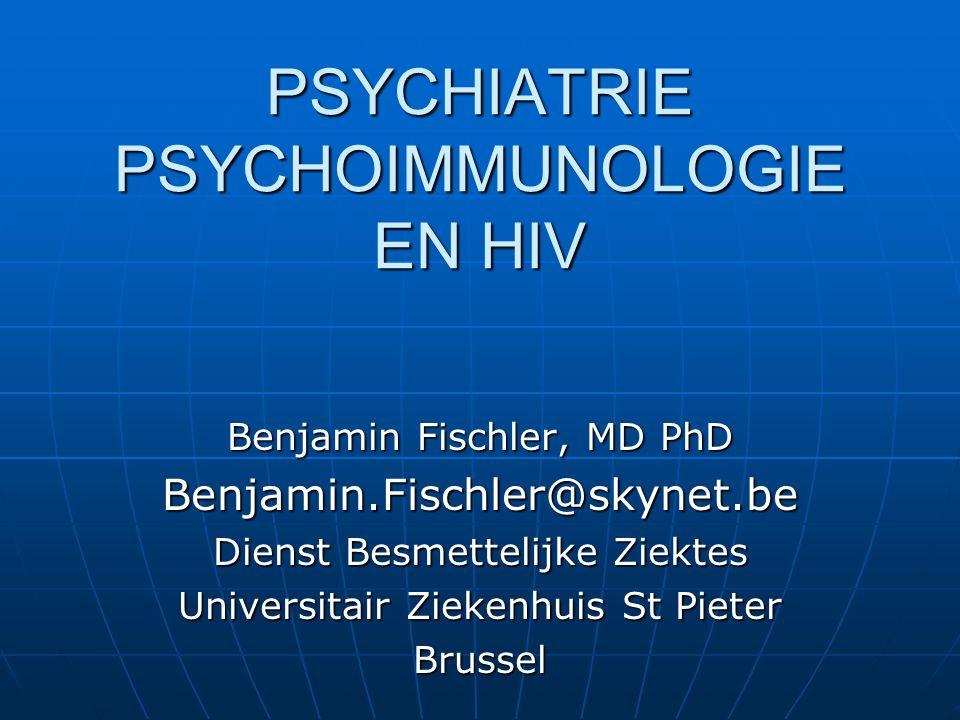 PSYCHIATRIE PSYCHOIMMUNOLOGIE EN HIV