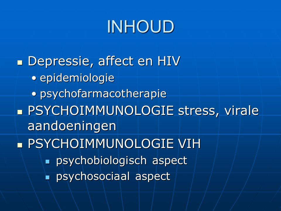 INHOUD Depressie, affect en HIV
