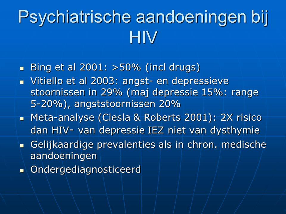 Psychiatrische aandoeningen bij HIV