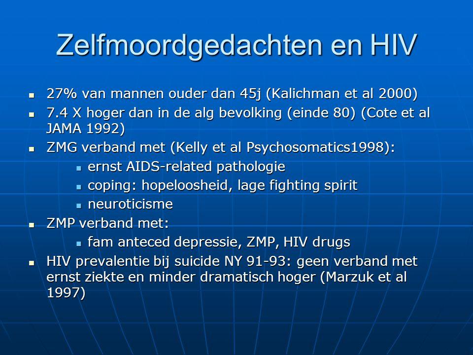 Zelfmoordgedachten en HIV