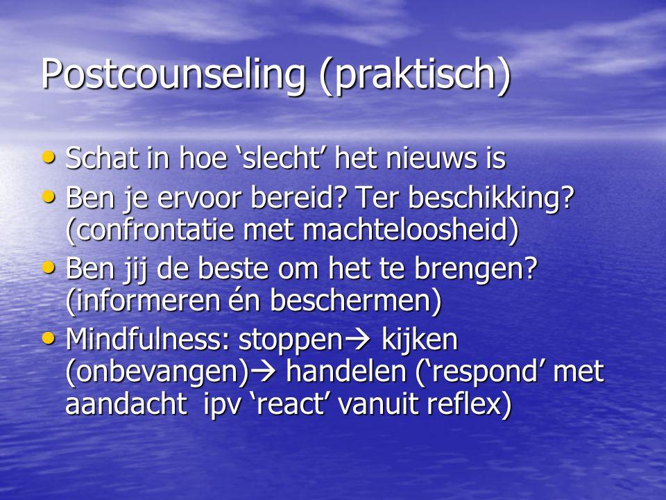 Postcounseling (praktisch)