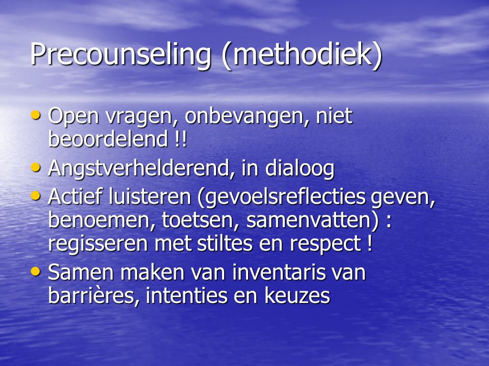 Precounseling (methodiek)