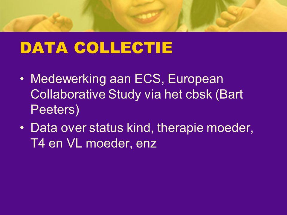 DATA COLLECTIE Medewerking aan ECS, European Collaborative Study via het cbsk (Bart Peeters)