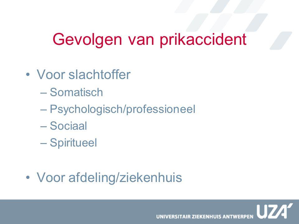 Gevolgen van prikaccident