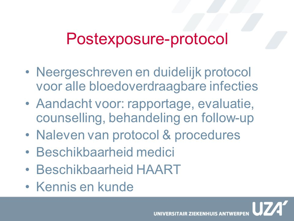 Postexposure-protocol