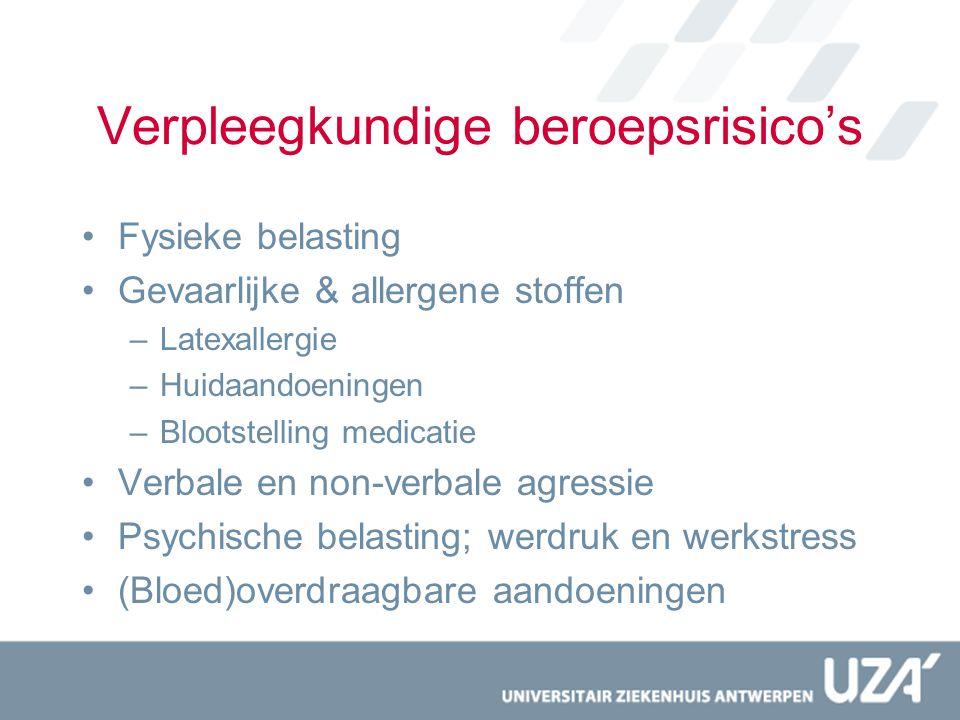 Verpleegkundige beroepsrisico's