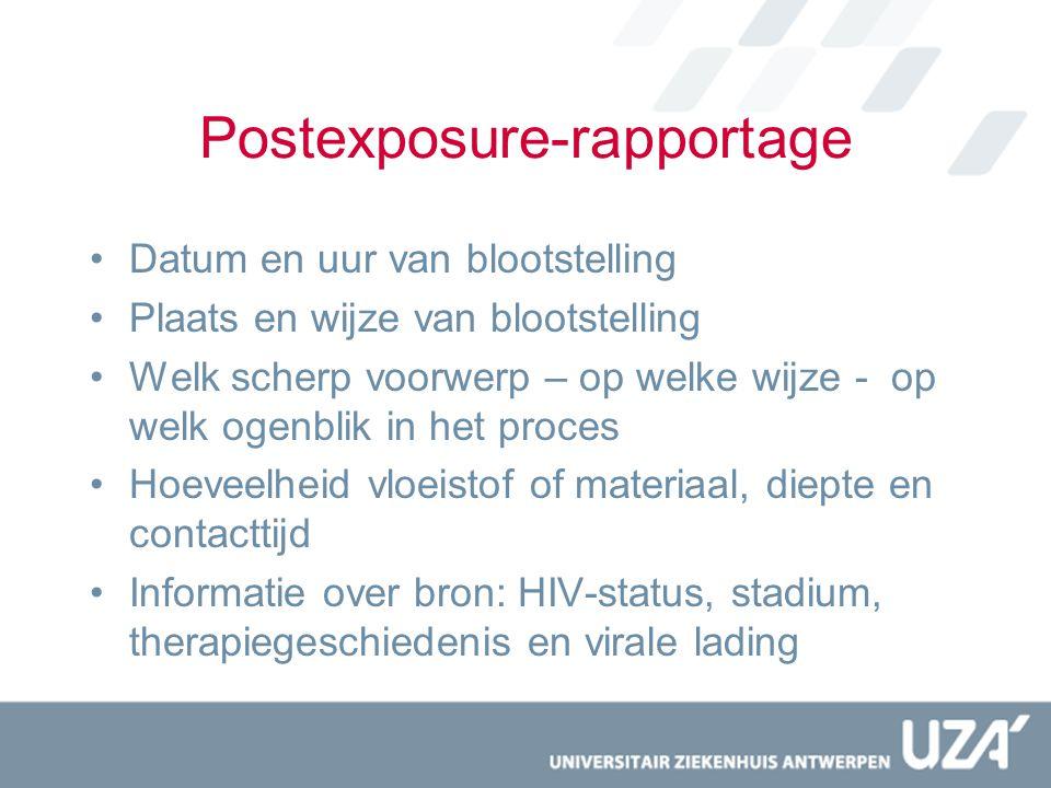 Postexposure-rapportage