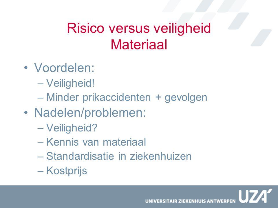 Risico versus veiligheid Materiaal