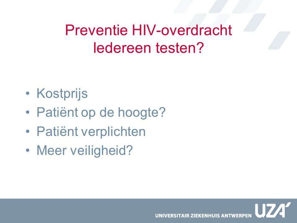 Preventie HIV-overdracht Iedereen testen