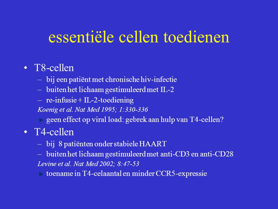 essentiële cellen toedienen