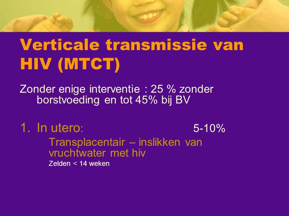 Verticale transmissie van HIV (MTCT)