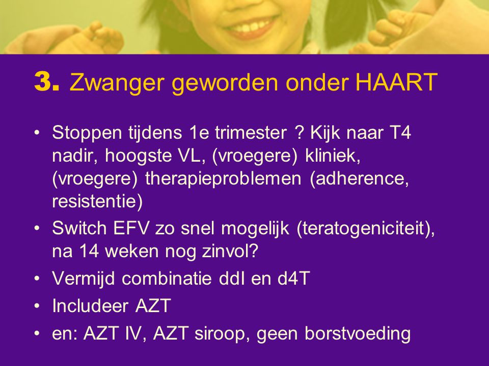 3. Zwanger geworden onder HAART